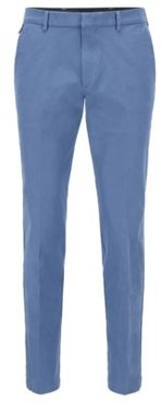 HUGO BOSS - Slim Fit Pants In Travel Friendly Stretch Twill - Light Blue