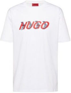 BOSS - Unisex Cotton Jersey T Shirt With Placement Print - White