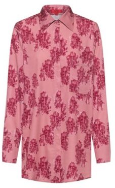 BOSS - Relaxed Fit Blouse In Toile Printed Crepe - Patterned