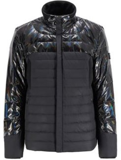 HUGO BOSS - Hybrid Down Jacket With Water Repellent Finish - Black
