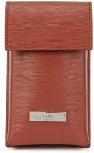 HUGO BOSS - Italian Leather Neck Pouch With Detachable Strap - Brown