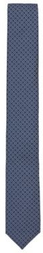 HUGO BOSS - Patterned Tie In Jacquard Fabric - Blue
