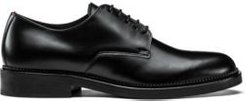 BOSS - Derby Shoes In Brush Off Leather - Black