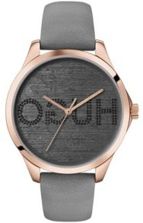 BOSS - Carnation Gold Plated Watch With Embossed Reverse Logo Dial