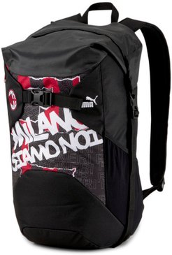 AC Milan ftblCulture Rolltop Backpack in Black/Tango Red