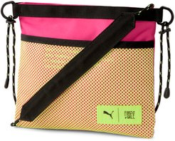 x FIRST MILE Sacoche Bag in Black/Pink/Fizzy Yellow