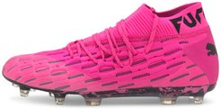 FUTURE 6.1 NETFIT FG/AG Soccer Cleats Shoes in Luminous Pink/Black, Size 10.5