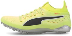 evoSPEED NETFIT Sprint 2 Track Spikes Shoes in Fizzy Yellow/Black/Peach, Size 11.5
