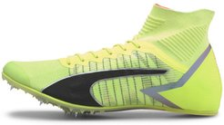 evoSPEED Tokyo Future Mid Track Spikes Shoes in Fizzy Yellow/Black/Nrgy Peac, Size 6.5