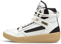Clyde All-Pro Kuzma Mid Basketball Shoes in Beige, Size 11.5