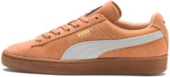 Suede Classic Women's Sneakers in Toast/White, Size 6.5