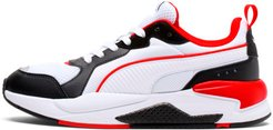 X-RAY Men's Sneakers in White/Black/Red, Size 11.5