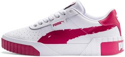 Cali Brushed Women's Sneakers in White/Cerise, Size 6.5