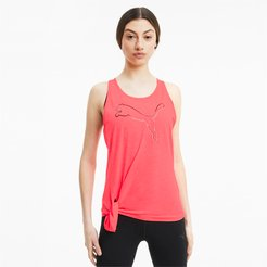 Tie Logo Tank Top in Ignite Pink, Size M