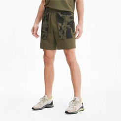 x FIRST MILE Men's Woven Running Shorts in Burnt Olive, Size M