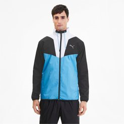 Reactive Men's Track Jacket in Ethereal Blue/Black/White, Size XL