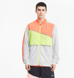 Run Ultra Men's Jacket in Puma White/Nrgy Pch/Fizzy Yellow, Size M