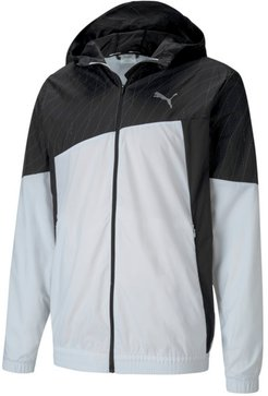 Run Men's Graphic Hooded Jacket in White/Black, Size M