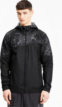 Run Men's Graphic Hooded Jacket in Black, Size L