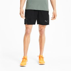 Run Men's Graphic Woven Shorts in Black, Size XL