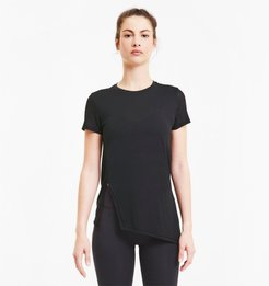 Studio Lace Women's T-Shirt in Black, Size L
