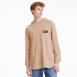 FUSION Men's Hoodie in Pink Sand, Size L