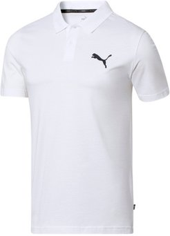 Essentials Men's Jersey Polo Shirt in White, Size M