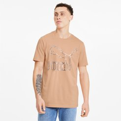 Classics Men's Logo T-Shirt in Pink Sand, Size M