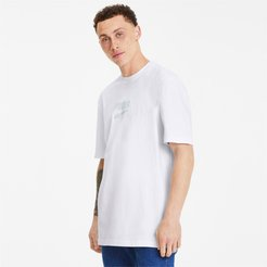 Downtown Men's T-Shirt in White/Mist Green 01, Size XL