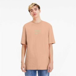 Downtown Men's T-Shirt in Pink Sand, Size M