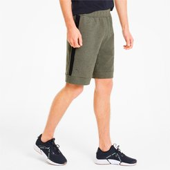 Porsche Design Men's Sweat Shorts in Deep Lichen Green Heather, Size XL