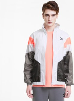 Tailored for Sport Men's Track Top Jacket in White, Size XL