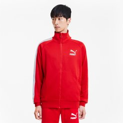 Iconic T7 Men's Track Jacket in High Risk Red, Size XL
