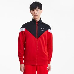 Iconic MCS Men's Track Jacket in High Risk Red, Size XL
