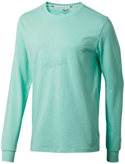Bounce Long Sleeve Men's Basketball T-Shirt in Mist Green, Size S