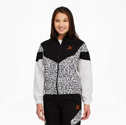 Tailored for Sport Women's Printed Track Jacket in Black, Size S