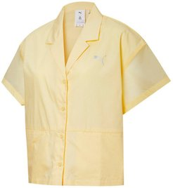 x LIU WEN Women's Shirt in Mellow Yellow, Size XS