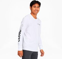 x CLOUD9 Level Up Men's Long Sleeve T-Shirt in White, Size M