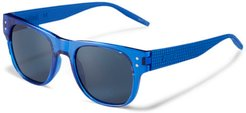 Rubber Eyes Sunglasses in Blue