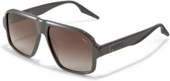 Stand Out Sunglasses in Grey/Brown