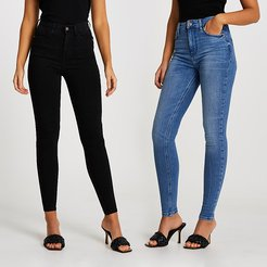 Blue and black skinny jean multipack