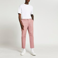 Mens Pink tapered trousers