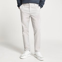 Mens Stone tapered chino trousers