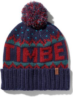 Winter Logo-knit Beanie For Men In Red Red, Size ONE