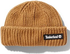 Rubber-patch Fisherman Beanie For Men In Yellow Yellow, Size ONE