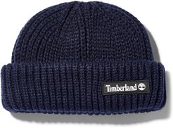 Rubber-patch Fisherman Beanie For Men In Navy Navy, Size ONE