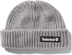 Rubber-patch Fisherman Beanie For Men In Grey Grey, Size ONE