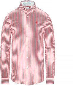 Suncook River Striped Shirt Red Red, Size M