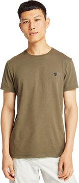 Dunstan River T-shirt For Men In Green Brown, Size L