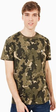 Kennebec River T-shirt For Men In Green Camo Green Camo, Size L